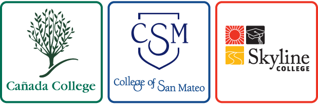 Cañada College, College of San Mateo and Skyline College Logos