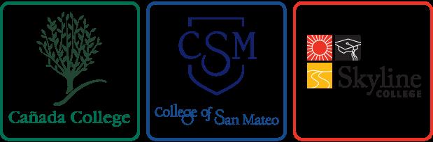 Cañada College, College of San Mateo and Skyline College Logos