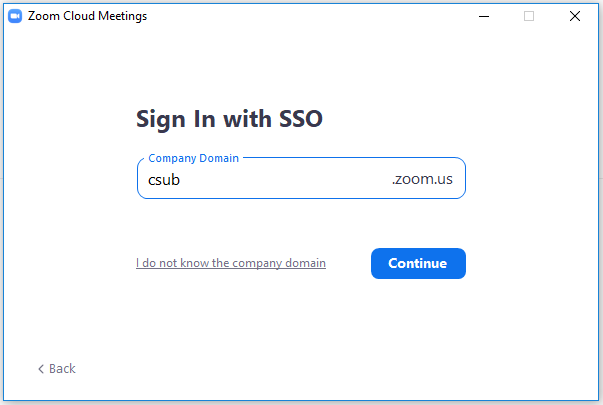 Sign in with Company Email or Domain