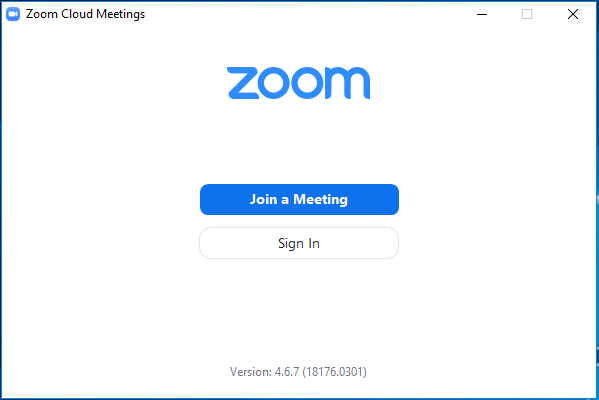 Sign into the Zoom Client