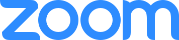 Zoom Logo in blue