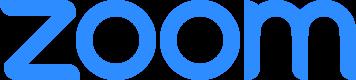 Zoom Logo in blue