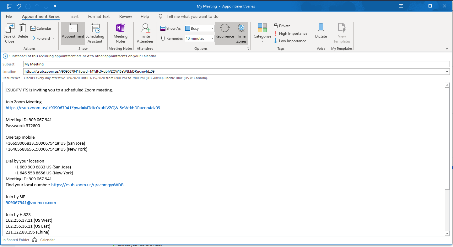 Add Participants from Outlook