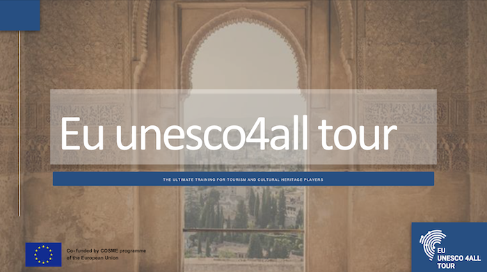 "The EU UNESCO4ALL TOUR Training Course. This week we will dive into ""Changing the paradigm of disability: how technology can improve the visitors with disabilities experience"". Speaker: Gilda Lombardi, Co-Founder at Tooketo"