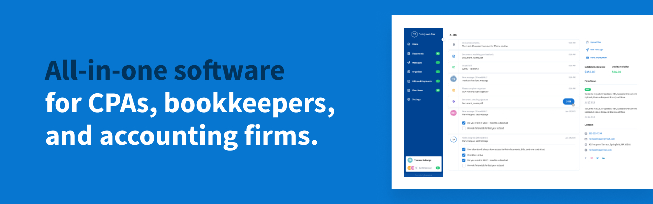 All-in-one software for CPAs, Bookkeepers and accounting firms