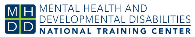 Logo: MHDD Mental Health and Developmental Disabilities National Training Center