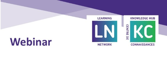Learning Network & Knowledge Hub Webinar
