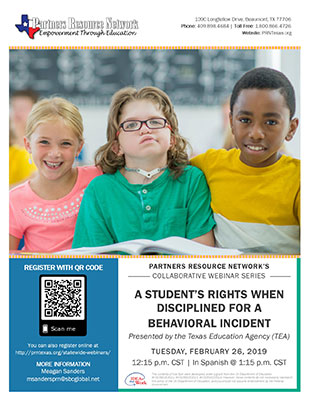 A Student's Rights when Disciplined for a Behavioral Incident | Derechos de los Estudiantes cuando son Disciplinados por un Incidente de Conducta