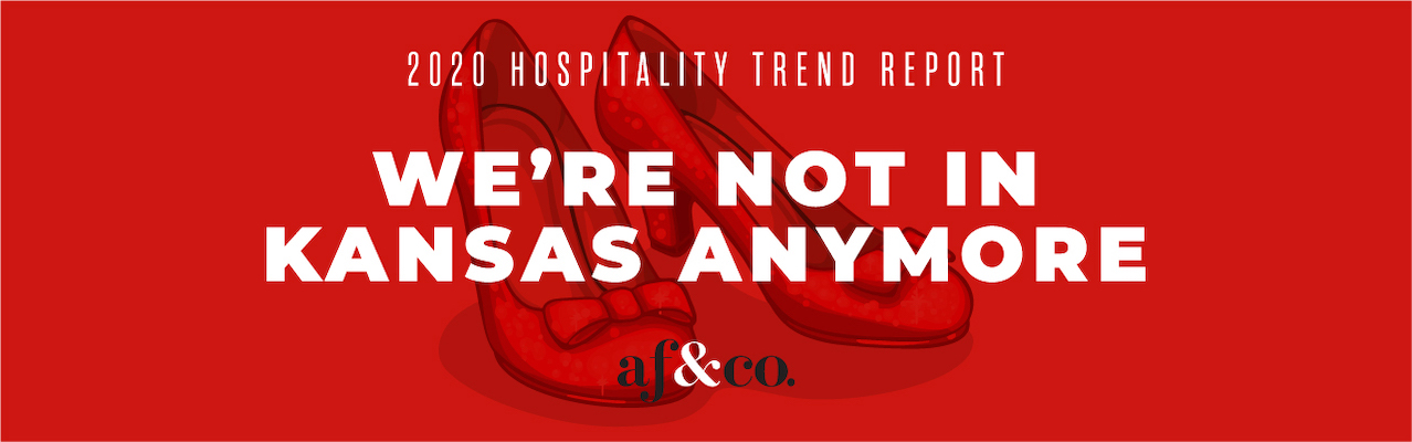 2020 Hospitality Trend Report Banner With Ruby Red Slippers