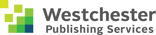 A logo of green and blue squares to the left of the words Westchester Publishing Services