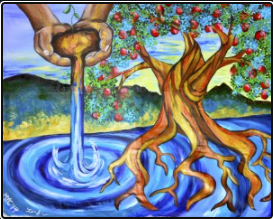 "Psalm 1:3a ""...like a tree planted by streams of water..."""