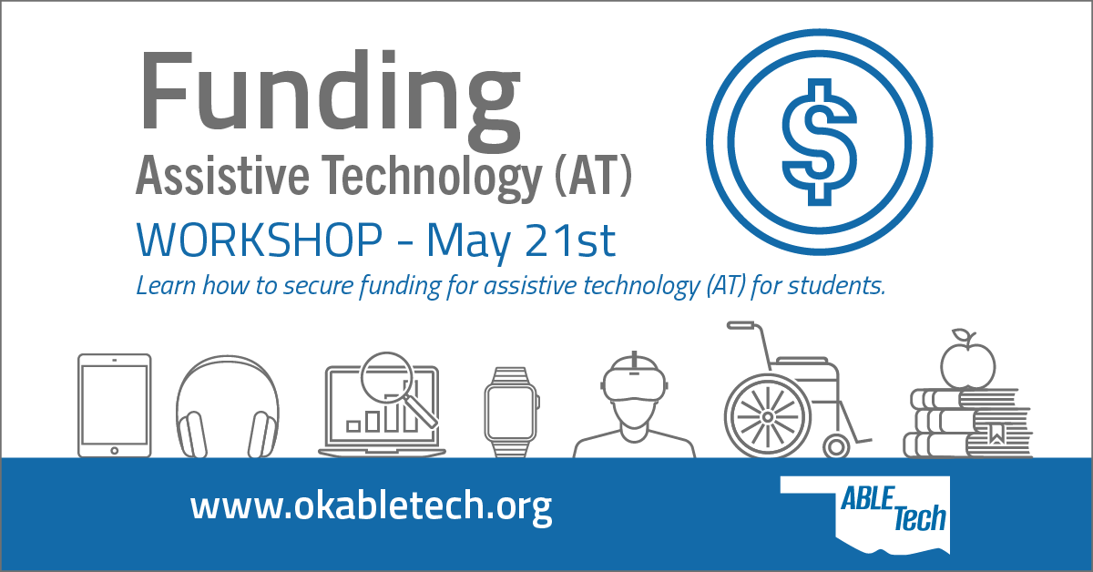 ABLE Tech funding workshop graphic with date - decorative