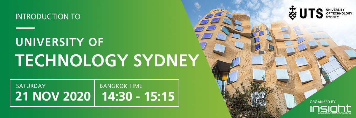 Study at University of Technology Sydney (UTS) webinar