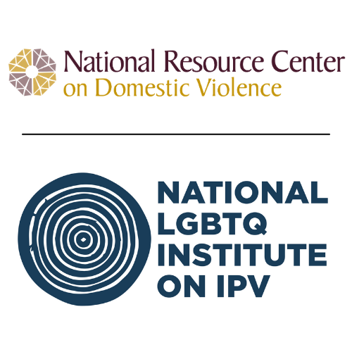 National Resource Center on Domestic Violence & National LGBTQ Institute on IPV logos