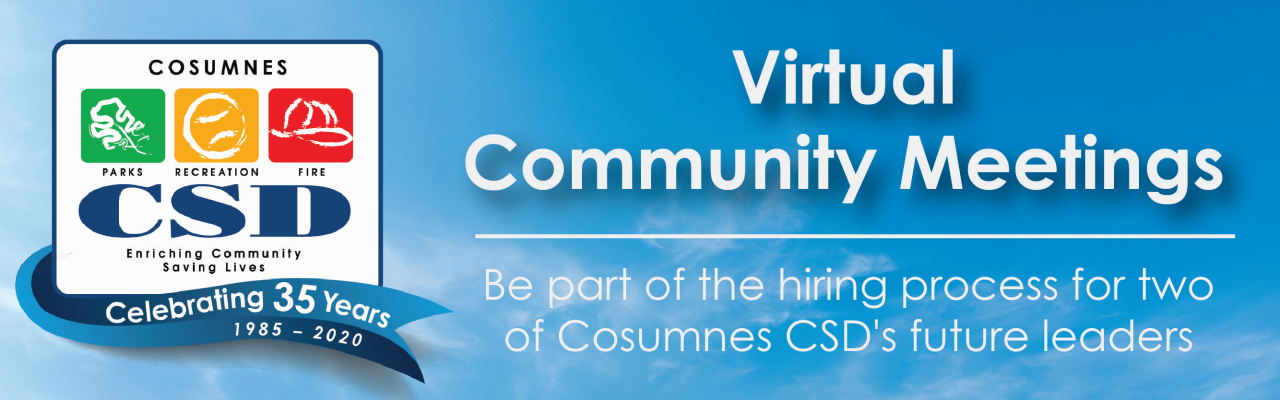 Cosumnes CSD Virtual Meeting Banner