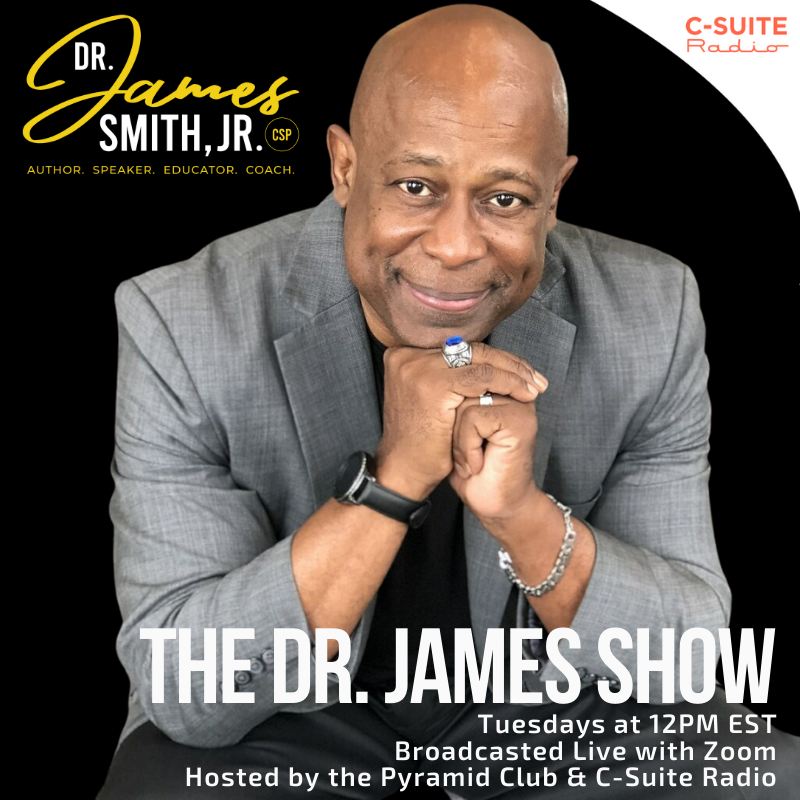 The webinar features Dr. James in authentic conversations with business professionals, colleagues and mentors sharing their thoughts about personal power, leadership, diversity, inclusion, and performance.