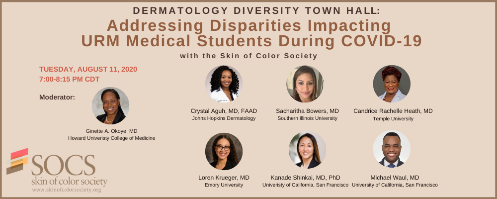 Town Hall Meeting and Networking Session with Skin of Color Society Medical Students