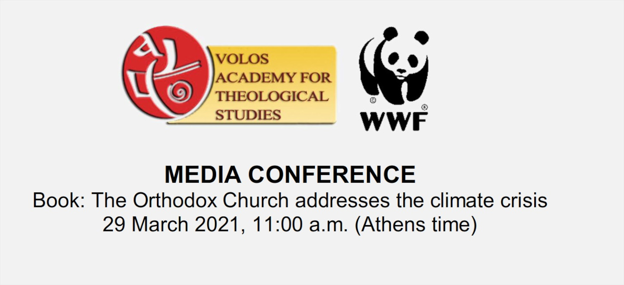 MEDIA CONFERENCE Book: The Orthodox Church addresses the climate crisis Banner