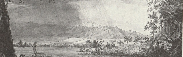 View of James Peak in the Rain by Samuel Seymour, 1820