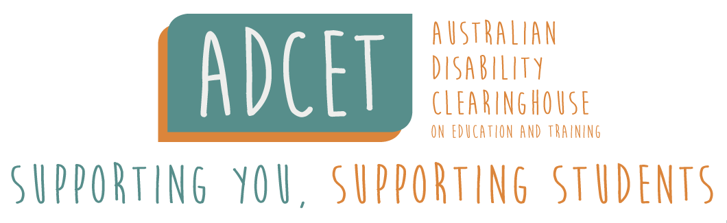 ADCET logo. Supporting you supporting students