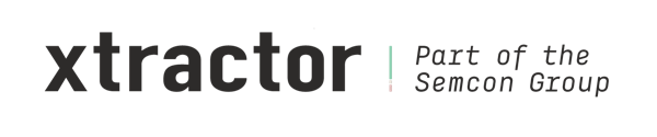 Logo: Xtractor - Part of the Semcon Group.
