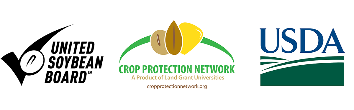 With support from the United Soybean Board, Crop Protection Network, and USDA