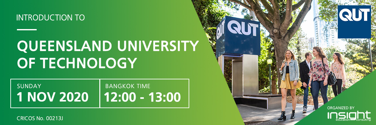 Study at the Queensland University of Technology (QUT) webinar