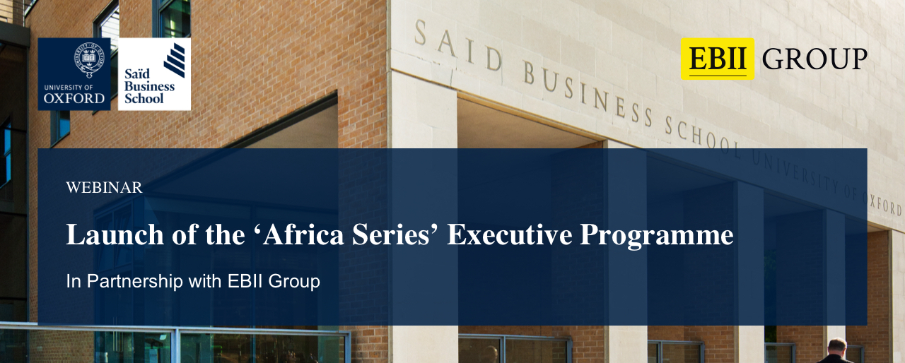 Launch of the Africa Series of Executive Programmes