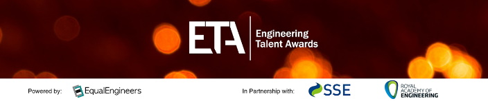 Engineering Talent Awards banner with EqualEngineers, SSE and Royal Academy of Engineering logos.