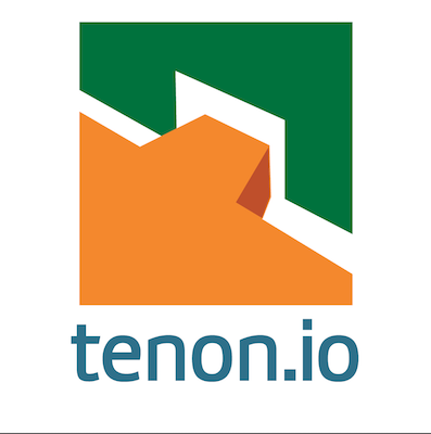 tenon.io logo showing a stylized mortisse and tenon joint